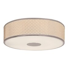 Diamond Grill 4 Light Flush Mount
