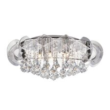Flared Crystal 7 Light Flush Mount