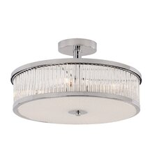 Crystal Sun 4 Light Semi-Flush Mount
