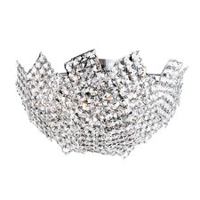 Fragmented Crystal Basket 8 Light Semi-Flush Mount