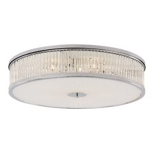 Crystal Sun 5 Light Flush Mount