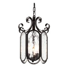 Iced Glass 3 Light Foyer Pendant