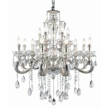 <strong>TransGlobe Lighting</strong> Helios 12 Light Crystal Chandelier