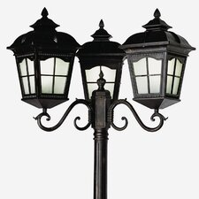"<strong>TransGlobe Lighting</strong> Outdoor 3 Light 30"" Post Lantern Set"
