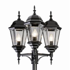 "<strong>TransGlobe Lighting</strong> 3 Light 98"" Post Lantern Set"