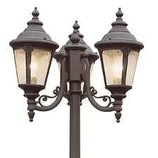 "<strong>TransGlobe Lighting</strong> 3 Light 84.5"" Outdoor Post Lantern Set"