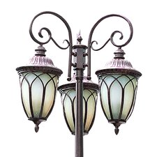 "Outdoor 9 Light 27"" Post Lantern Set"