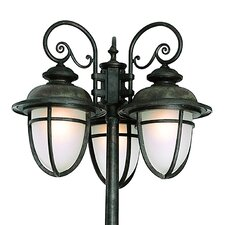"Outdoor 3 Light 78"" Post Lantern Set"