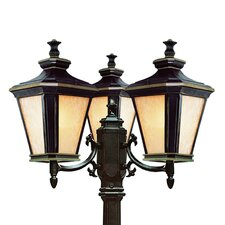 "Outdoor 3 Light 27"" Post Lantern Set"