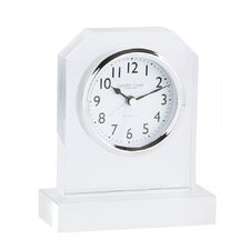 Octagonal Top Glass Mantel Clock in Clear