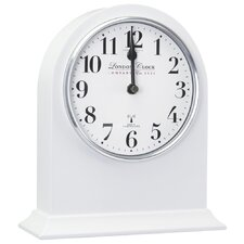 RC Arch Top Mantel Clock in White