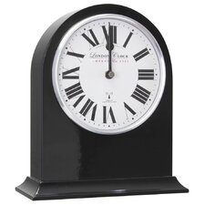 RC Arch Top Mantel Clock in Black