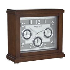 Flat Top Calendar Mantel Clock