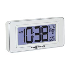 Night Light Dual Alarm Clock in White