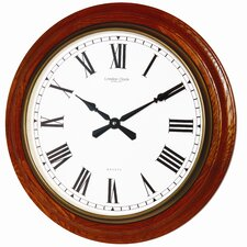 54cm Traditional Oak Wood Wall Clock