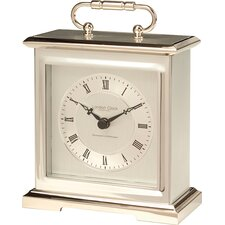 Lacquered Metal Case Mantel Clock