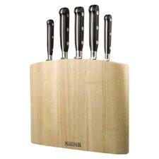 Sabatier 5 Piece Curve Knife Block