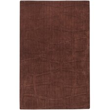 Sculpture Chocolate Checked Rug