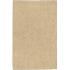 Sculpture Beige Checked Rug