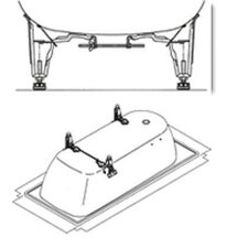 Centro Duo Leveling Feet for Centro Duo and Klassikduo Bath Tub