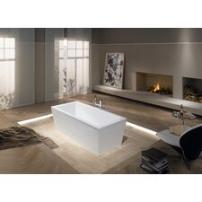 "Conoduo 79"" x 39"" Bathtub with Molded Panel and Leveling Feet Bathtub"