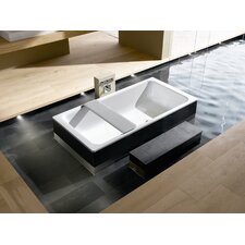 "Bassino 79"" x 39"" Bathtub with Molded Panel and Leveling Feet"