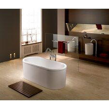 "Centro Duo 67"" x 30"" Oval Bathtub with Molded Panel"