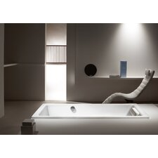 "Puro 63"" x 28"" Three Wall Bathtub with Reversible Drain"