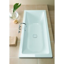 "Conoduo 71"" x 32"" Bathtub with Reversible Drain"