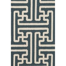 Archive Turquoise/Ivory Area Rug
