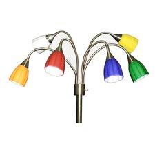 6 Head Goosneck Floor Lamp