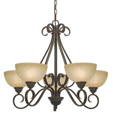 <strong>Golden Lighting</strong> Riverton 5 Light Chandelier