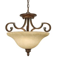 <strong>Golden Lighting</strong> Rockefeller 3 Semi-Flush Mount