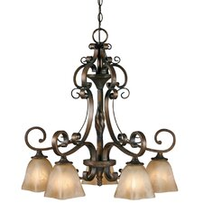 <strong>Golden Lighting</strong> Meridian 5 Light Nook Chandelier