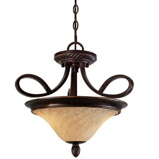 Torbellino 2 Lights Convertible Inverted Pendant