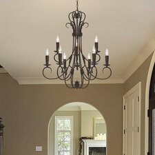 Homestead 9 Light Chandelier