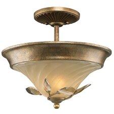 Beau Jardin 2 Light Convertible Semi-Flush Mount