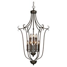 Multi Family Caged Foyer Inverted Pendant