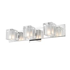 <strong>Golden Lighting</strong> Block 3 Light Bath Vanity Light