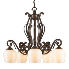 Pemberly Court 5 Light Chandelier