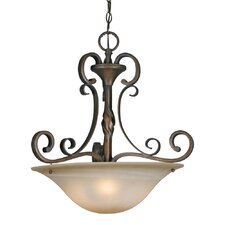 Meridian 3 Light Bowl Inverted Pendant
