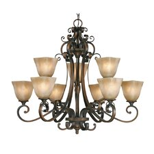 <strong>Golden Lighting</strong> Meridian 9 Light Chandelier