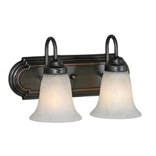 <strong>Golden Lighting</strong> Brookfield 2 Light Vanity Light