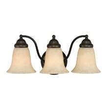 <strong>Golden Lighting</strong> Centennial 3 Light Bath Vanity Light