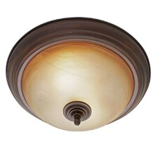 <strong>Golden Lighting</strong> Lancaster 2 Lights Flush Mount