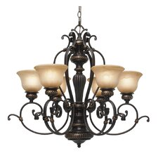 <strong>Golden Lighting</strong> Jefferson 6 Light Chandelier