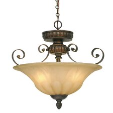 Mayfair 3 Light Convertible Inverted Pendant