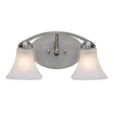 <strong>Golden Lighting</strong> Accurian 2 Light Bath Vanity Light