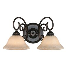 <strong>Golden Lighting</strong> Homestead 2 Light Bath Vanity Light