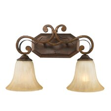 Pemberly Court 2 Light Bath Vanity Light